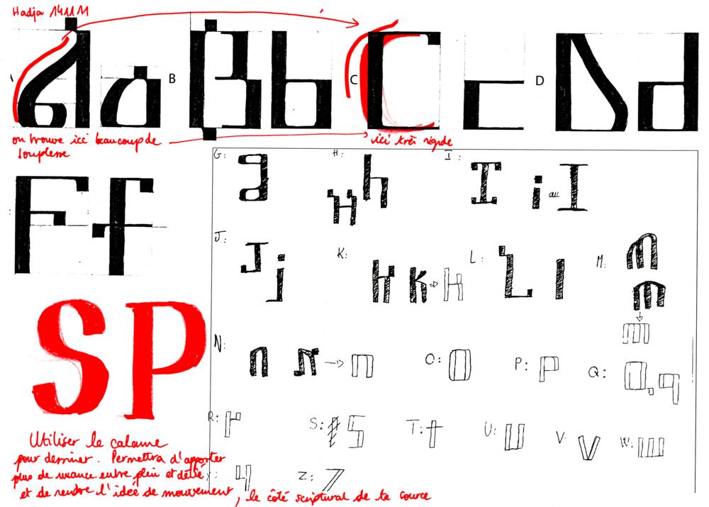 Pleins, déliés et esprit calligraphique, Suly et Hadja, corrections n°3 - par Sarah