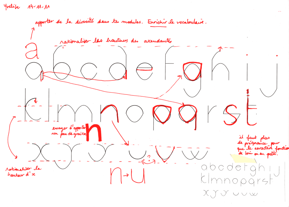 Variations autour de la graisse, Rémy et Yvelise, corrections n°5 - par Sarah